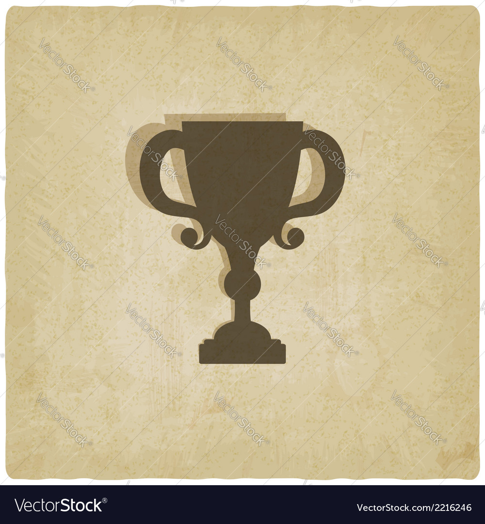 Trophy cup old background vector | Price: 1 Credit (USD $1)