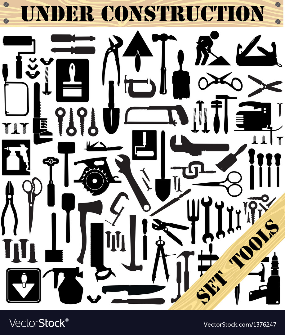 A set of tools silhouettes vector | Price: 3 Credit (USD $3)