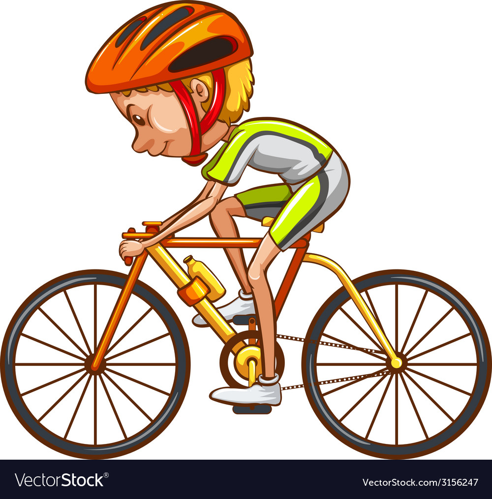 A sketch of a cyclist vector | Price: 1 Credit (USD $1)