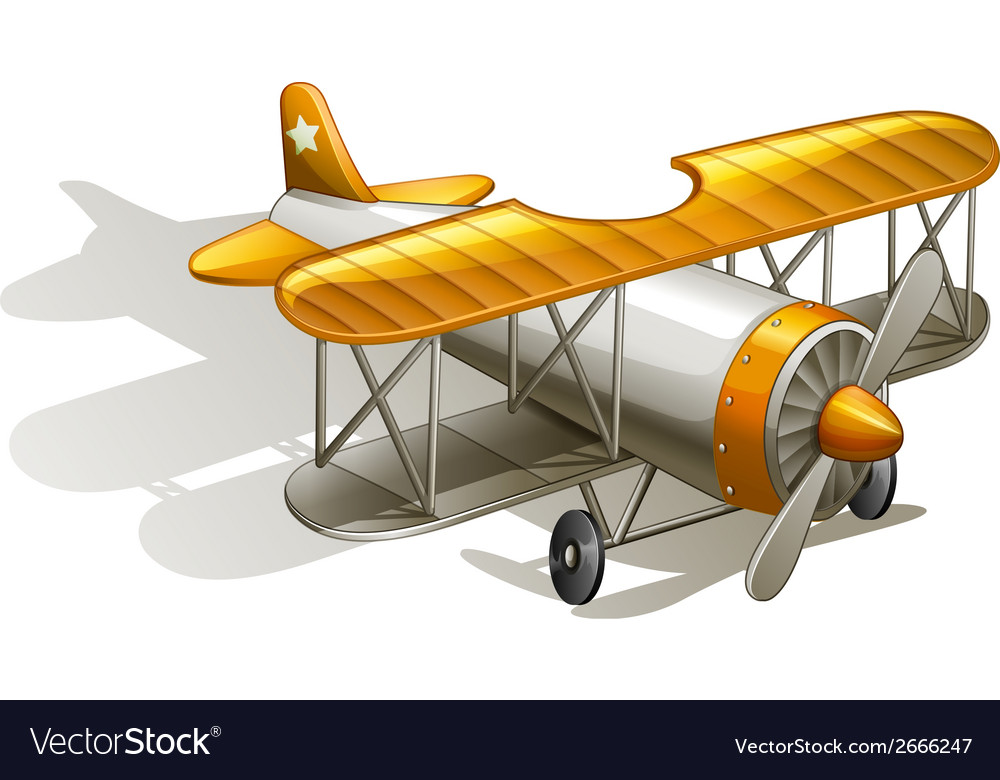 A vintage orange and gray coloured plane vector | Price: 1 Credit (USD $1)