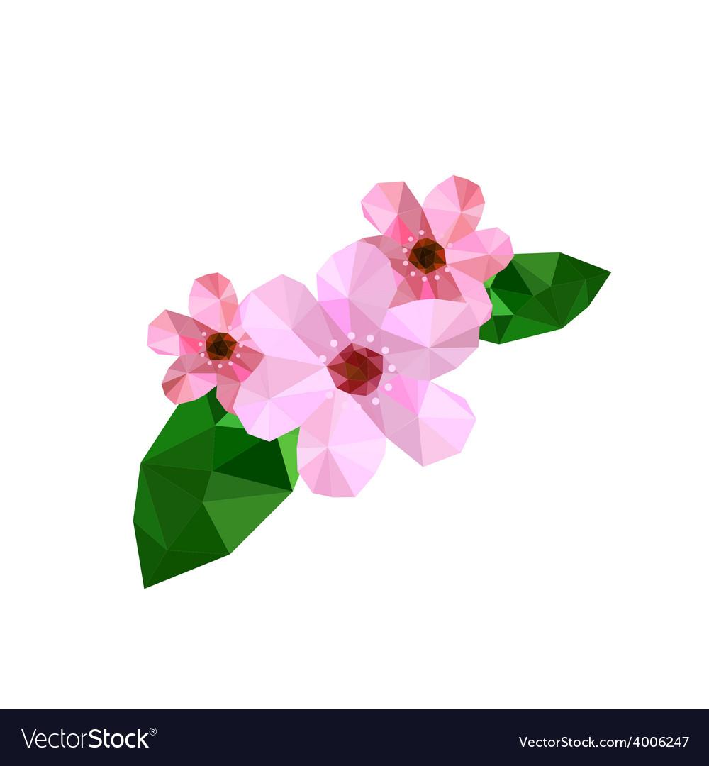 Beautiful origami cherry blossom vector | Price: 1 Credit (USD $1)