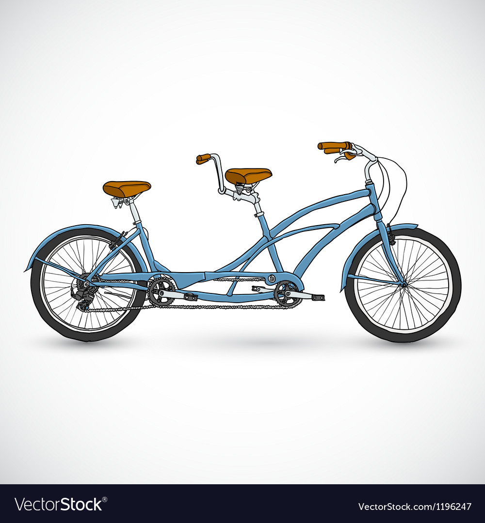 Bicycle in the doodle style vector | Price: 1 Credit (USD $1)