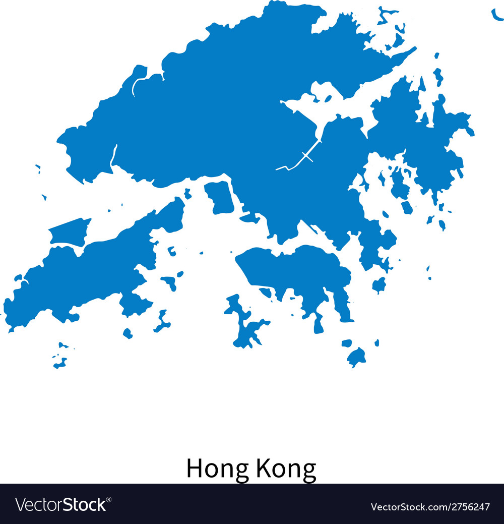 Detailed map of hong kong vector | Price: 1 Credit (USD $1)