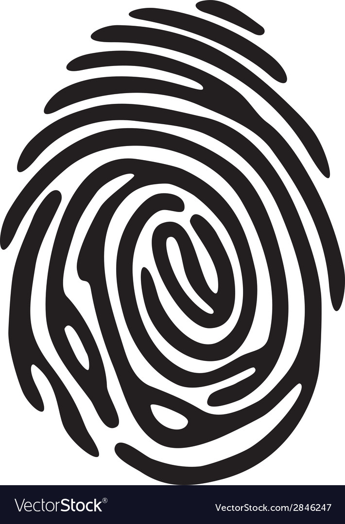 Finger print light vector | Price: 1 Credit (USD $1)