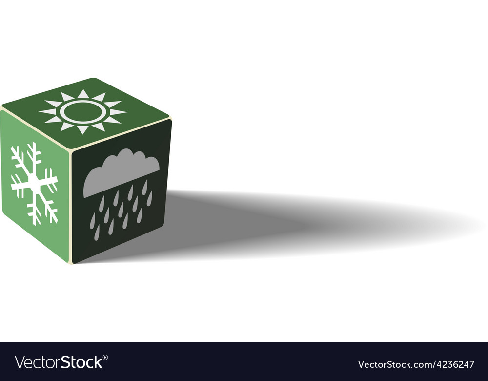 Green weather cube vector | Price: 3 Credit (USD $3)