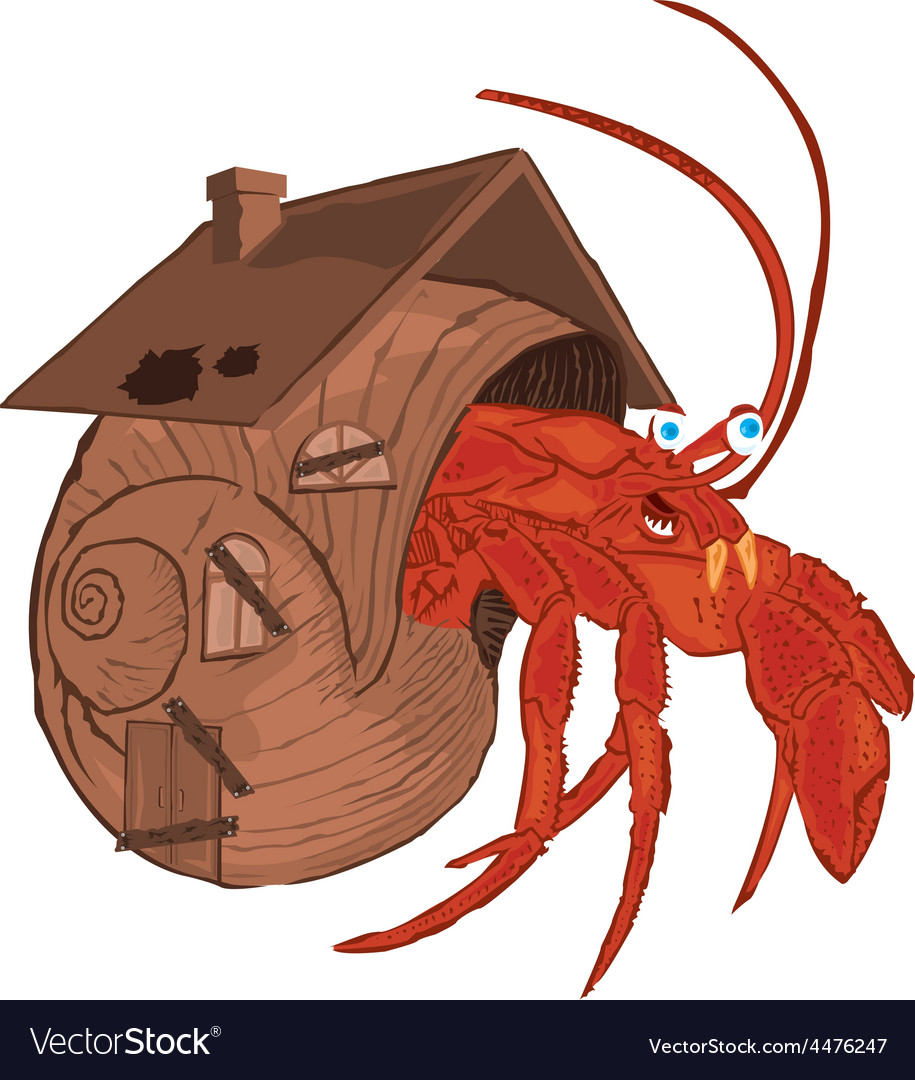 Hermit crab vector | Price: 1 Credit (USD $1)