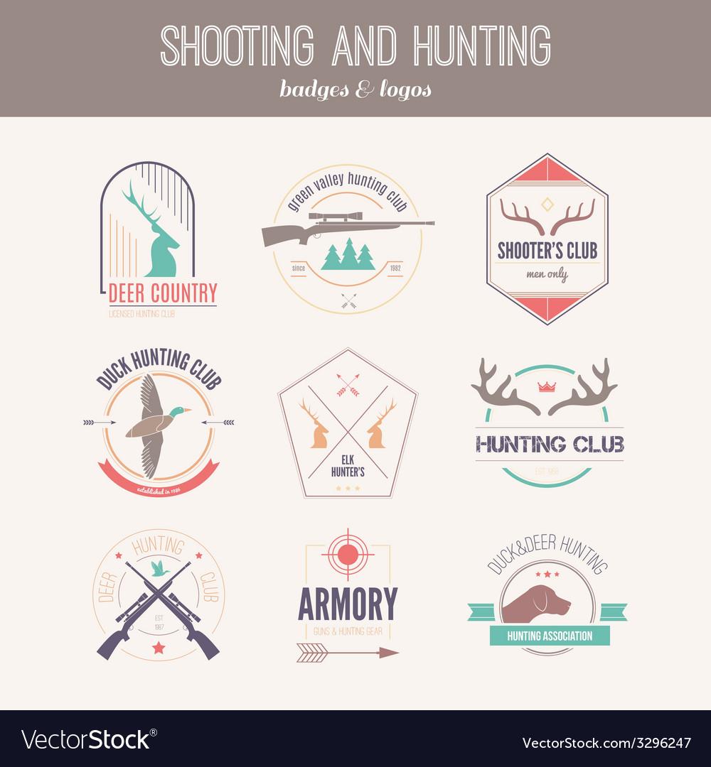 Hunting logos vector | Price: 1 Credit (USD $1)
