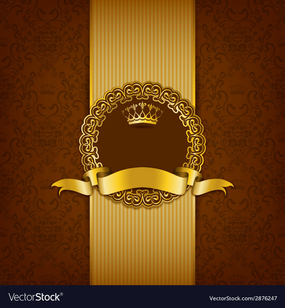 Luxury background with ornament frame vector | Price: 1 Credit (USD $1)