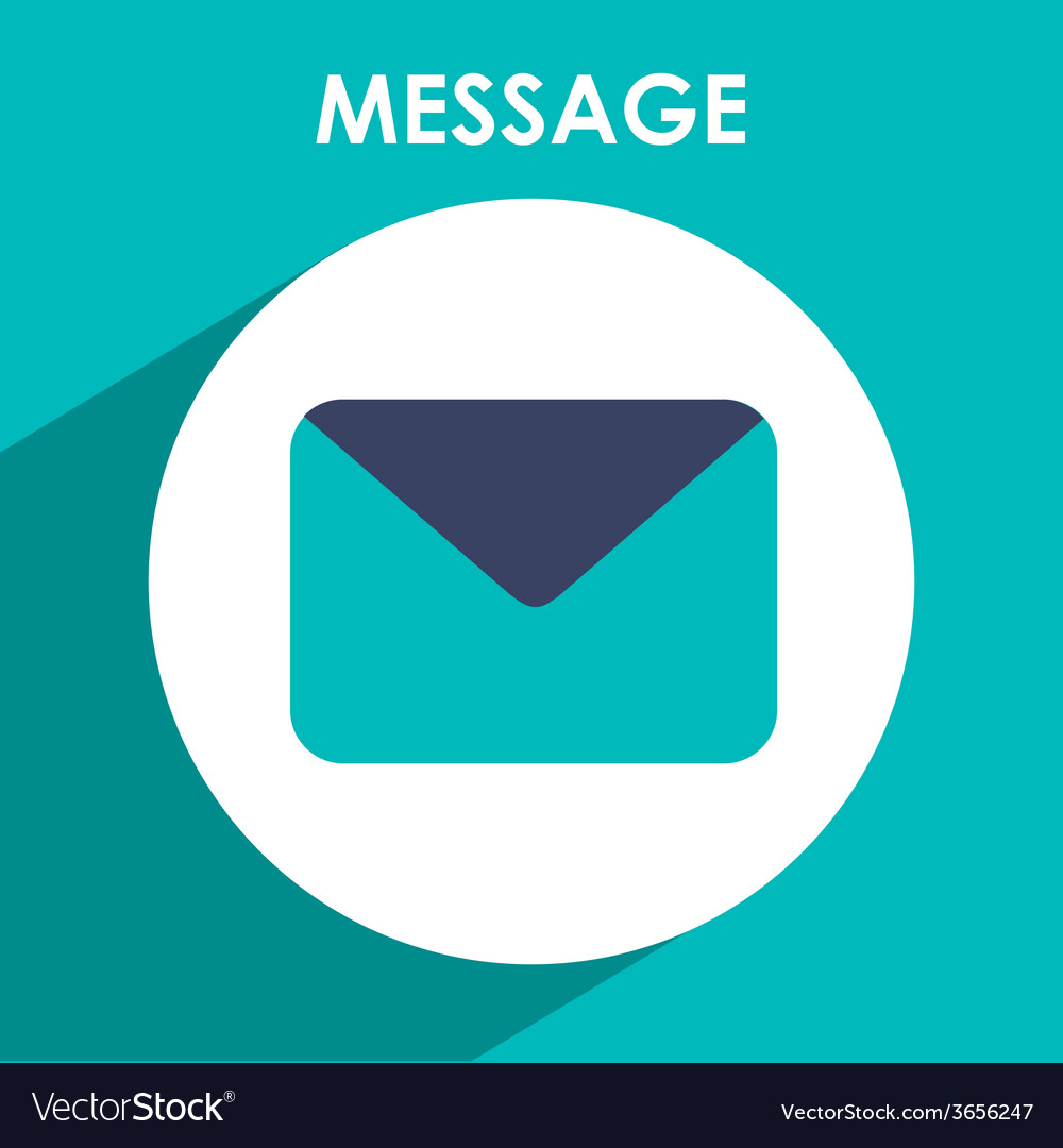 Message icon vector | Price: 1 Credit (USD $1)