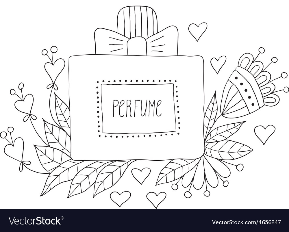 Perfume bottle with flower patterns vector | Price: 1 Credit (USD $1)