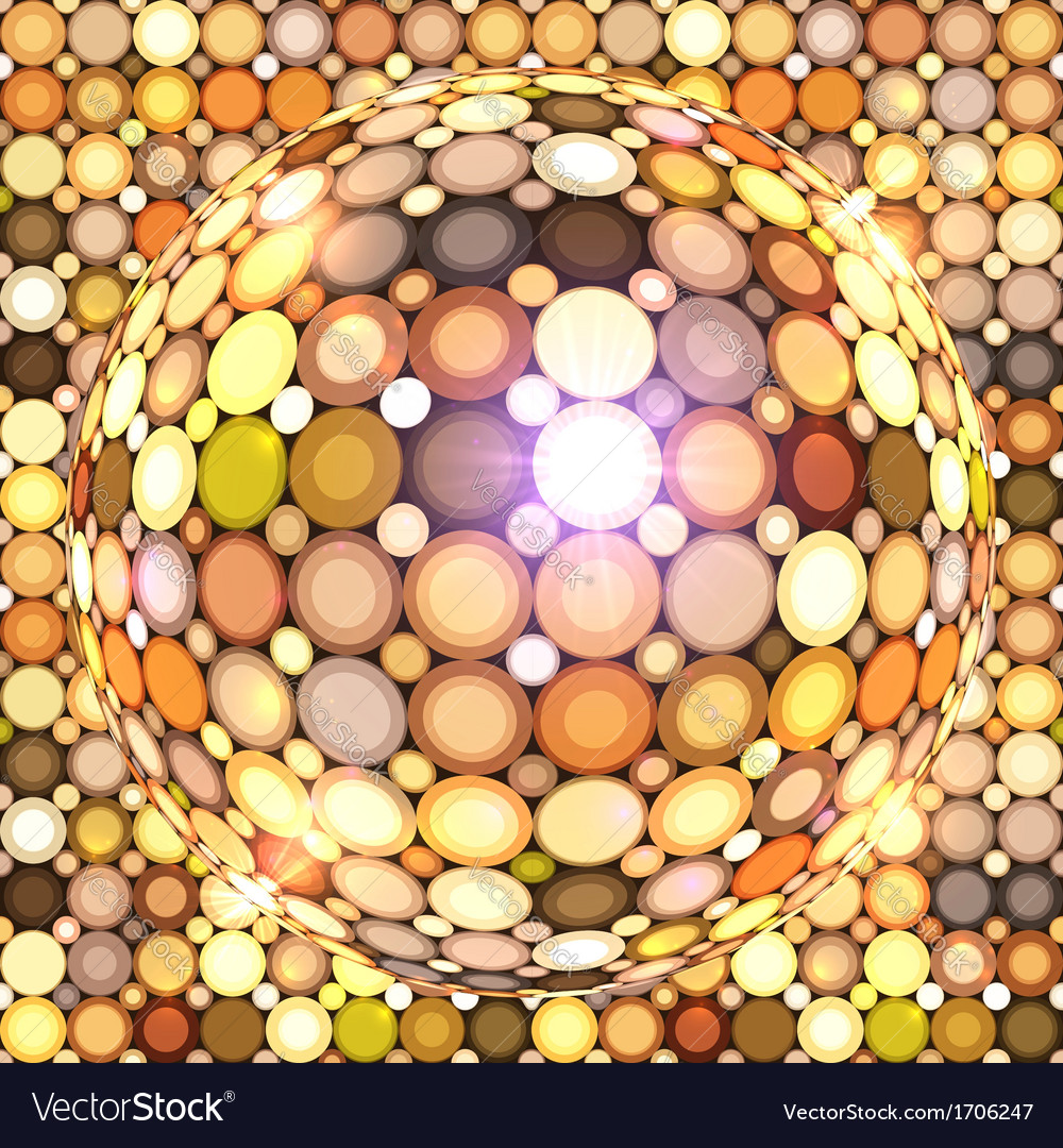 Shining golden disco ball vector | Price: 1 Credit (USD $1)