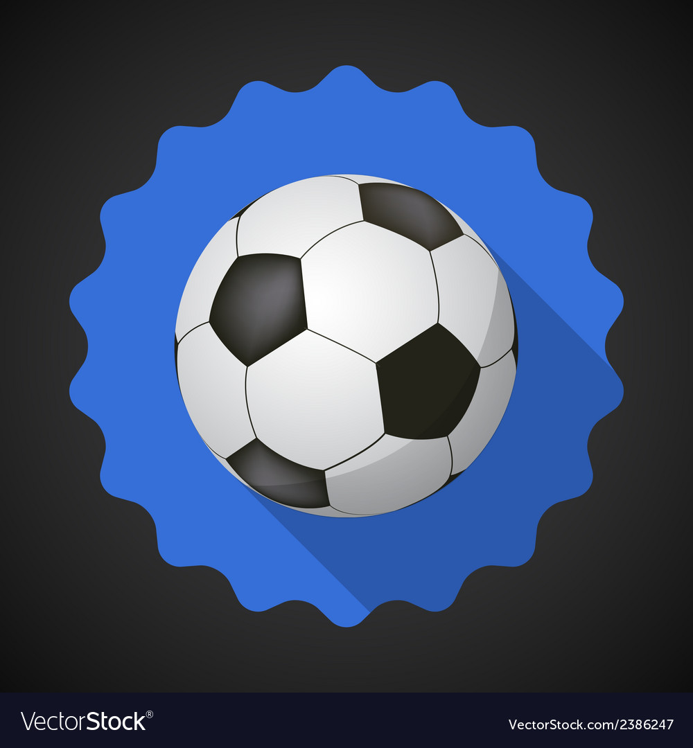 Sport ball football soccer flat icon background vector | Price: 1 Credit (USD $1)