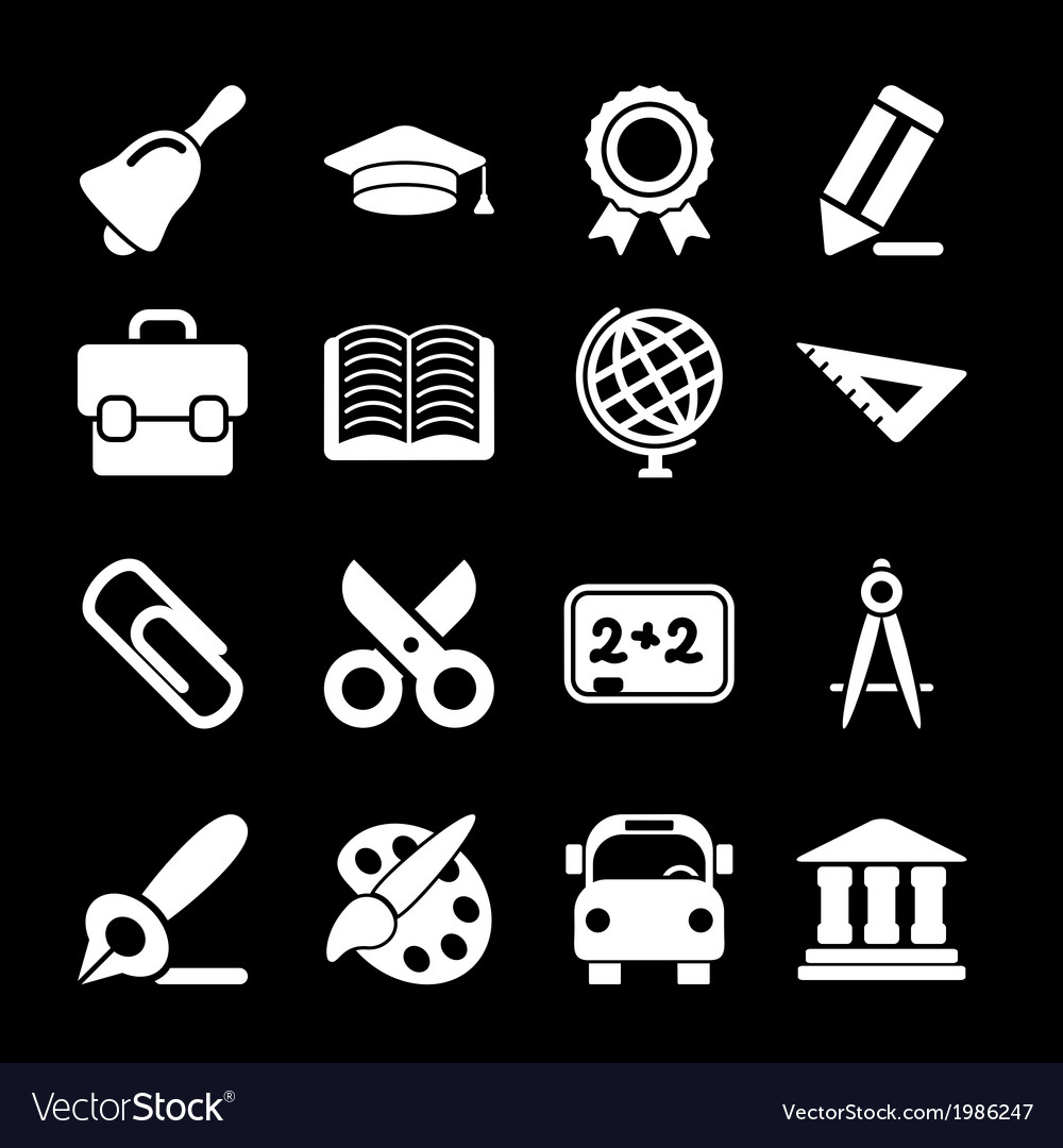 White education icons vector | Price: 1 Credit (USD $1)