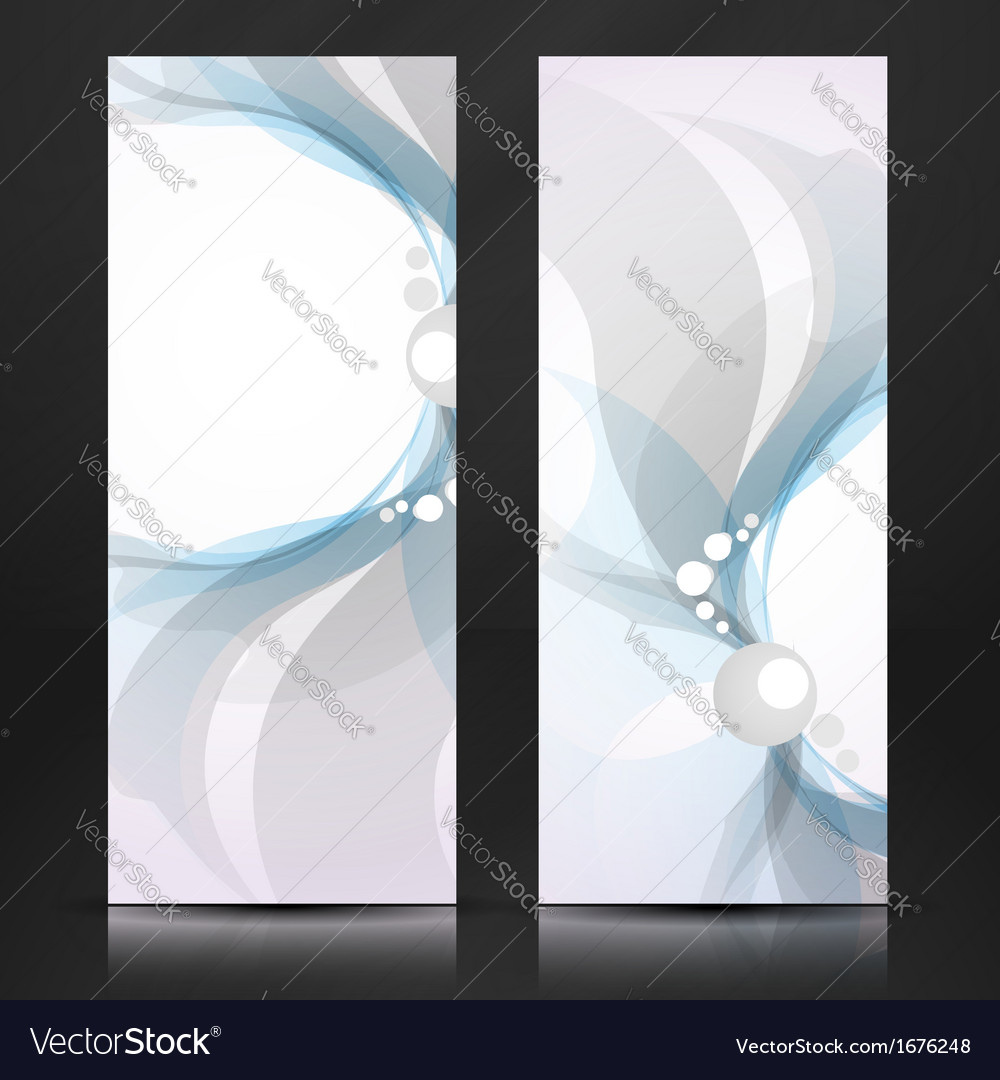 Abstract blue and gray banner vector