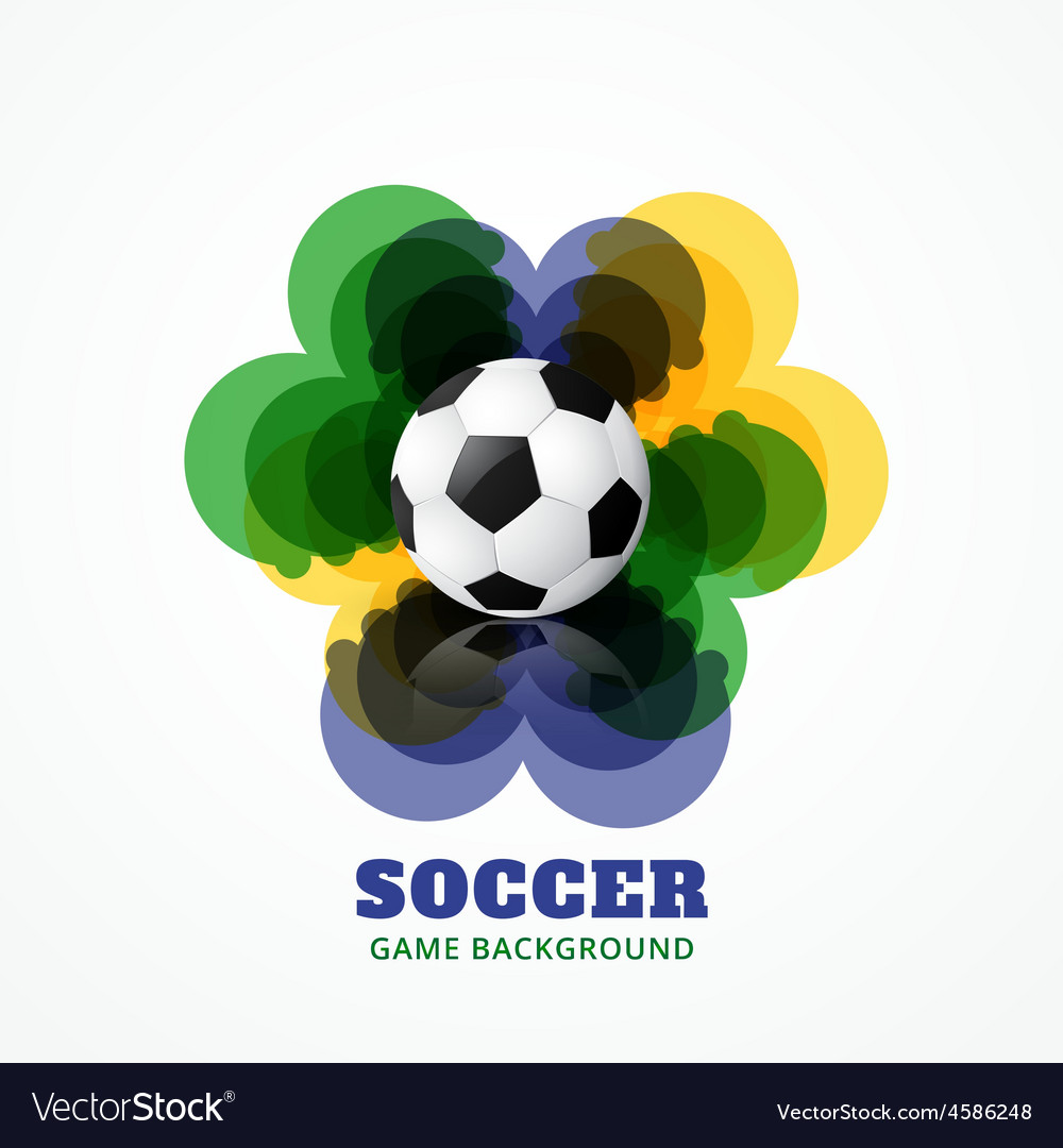 Abstract football game vector | Price: 1 Credit (USD $1)