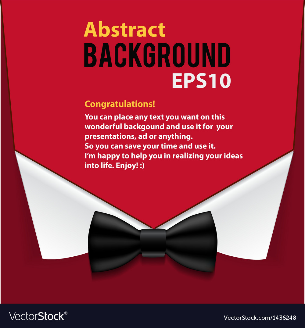 Abstract official paper elements red background vector | Price: 1 Credit (USD $1)