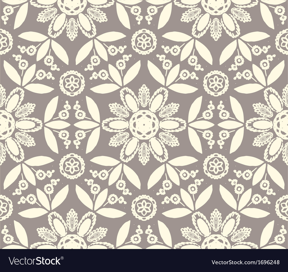 Floral ethnic pattern vector | Price: 1 Credit (USD $1)