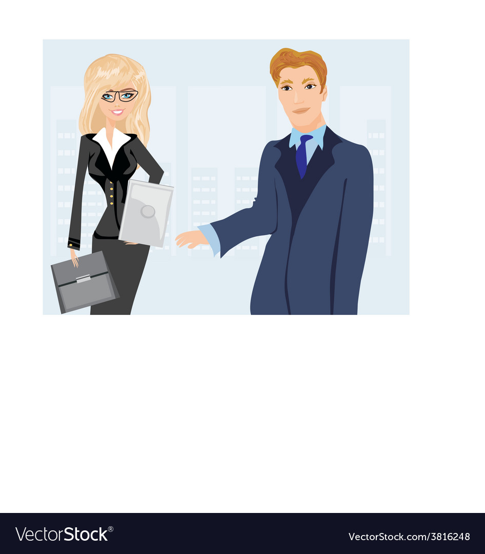 Formally dressed people in office business meeting vector | Price: 1 Credit (USD $1)