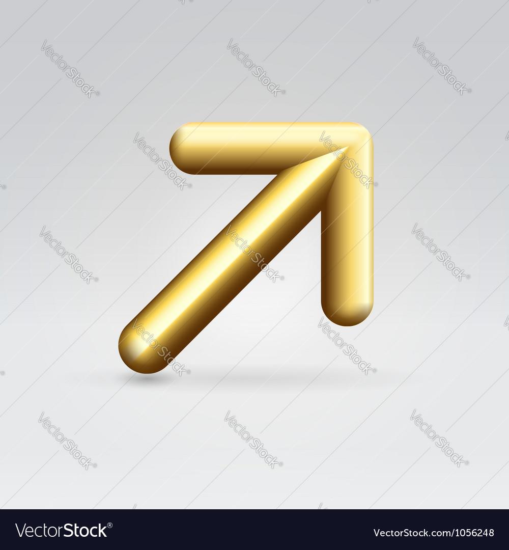 Golden arrow vector | Price:  Credit (USD $)