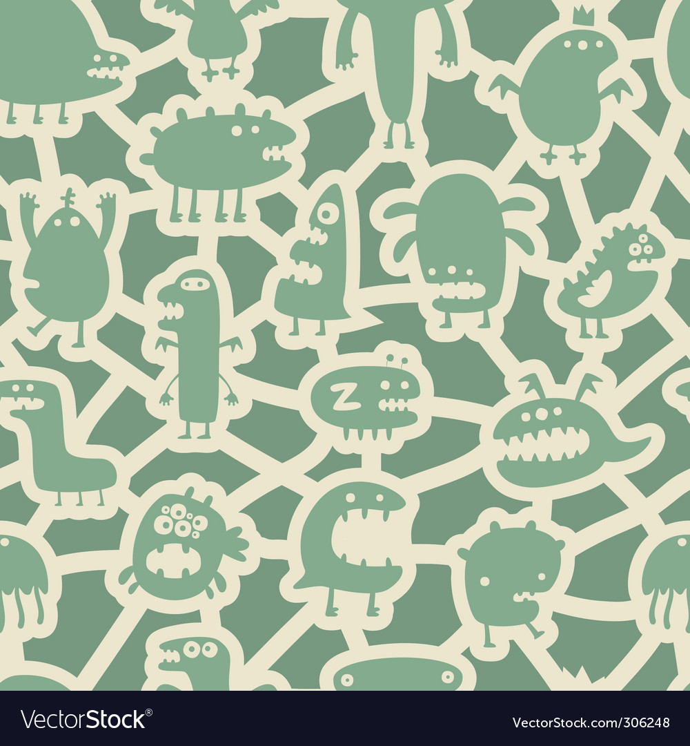 Monsters pattern vector | Price: 1 Credit (USD $1)