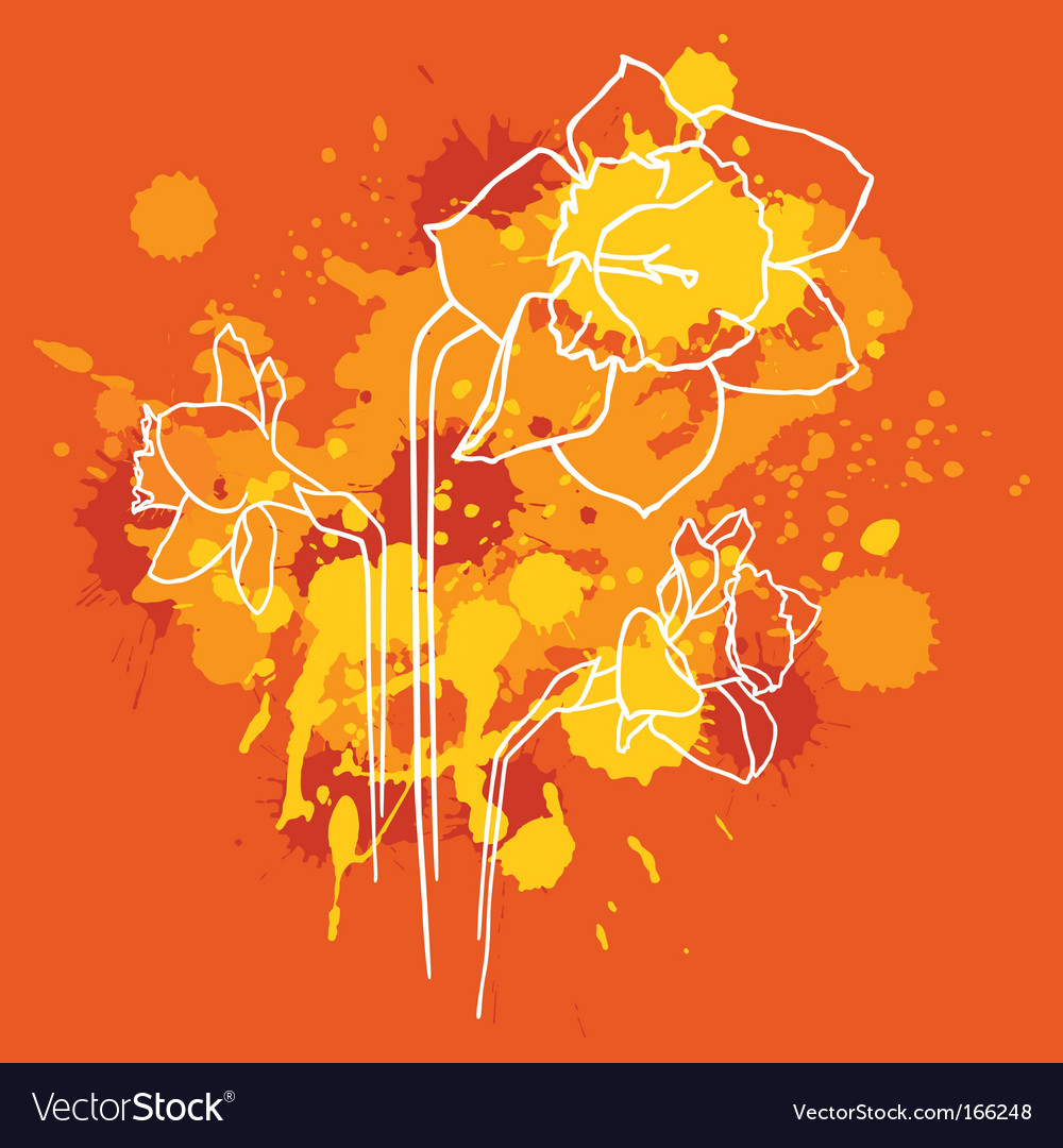 Narcissus background vector   Price: 1 Credit (USD $1)