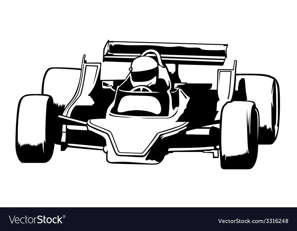 Racing car vector | Price: 1 Credit (USD $1)