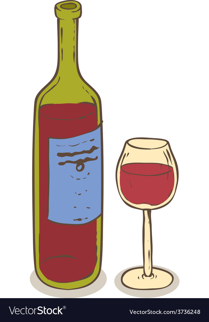 Wine and glass vector   Price: 1 Credit (USD $1)