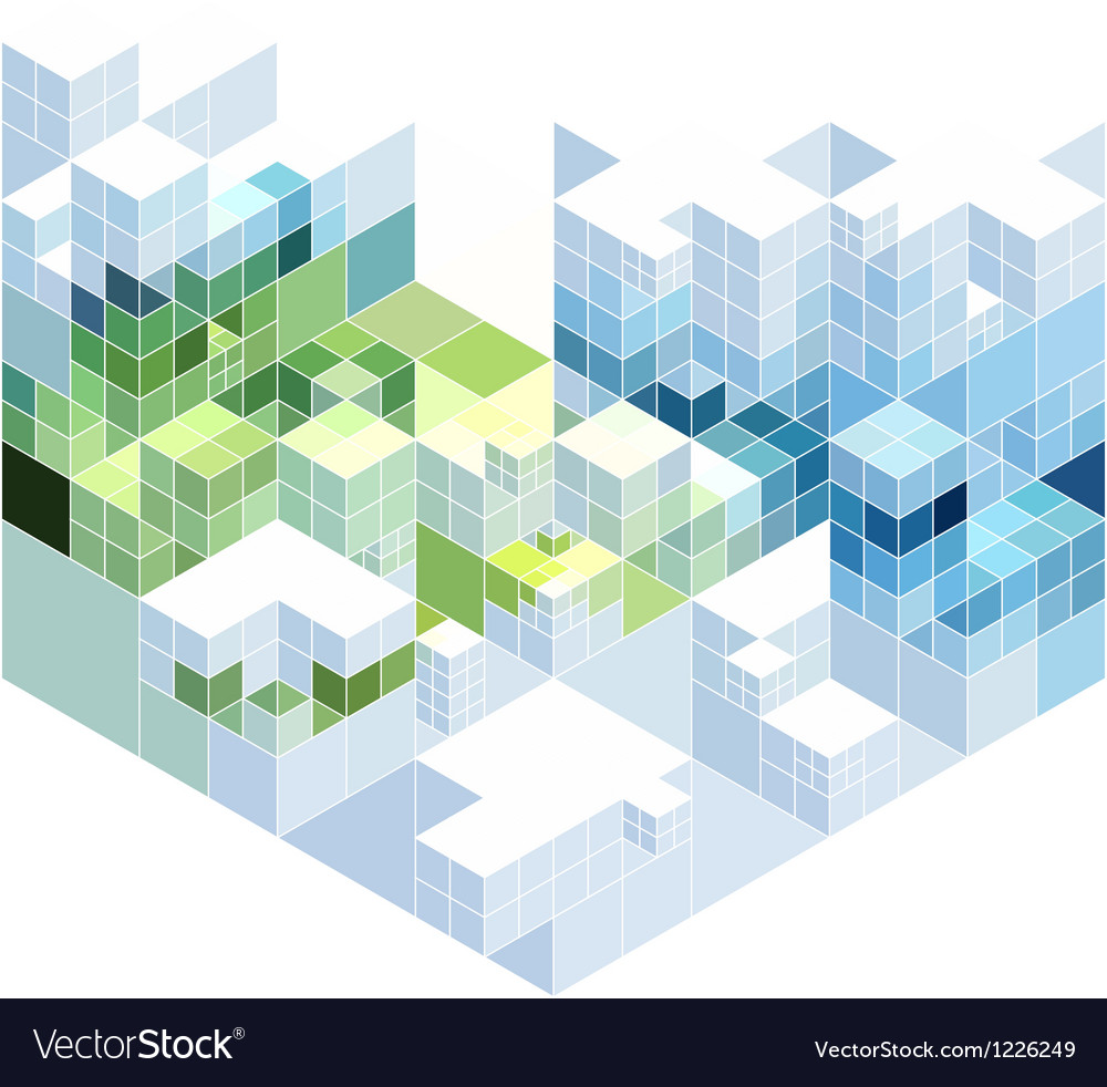 Abstract cubic background vector | Price: 1 Credit (USD $1)