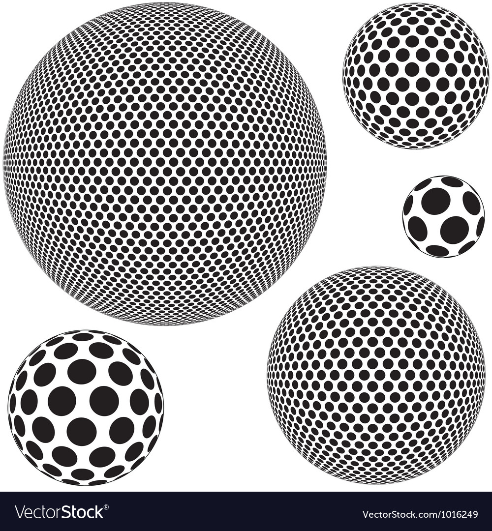 Dotted sphere vector | Price: 1 Credit (USD $1)