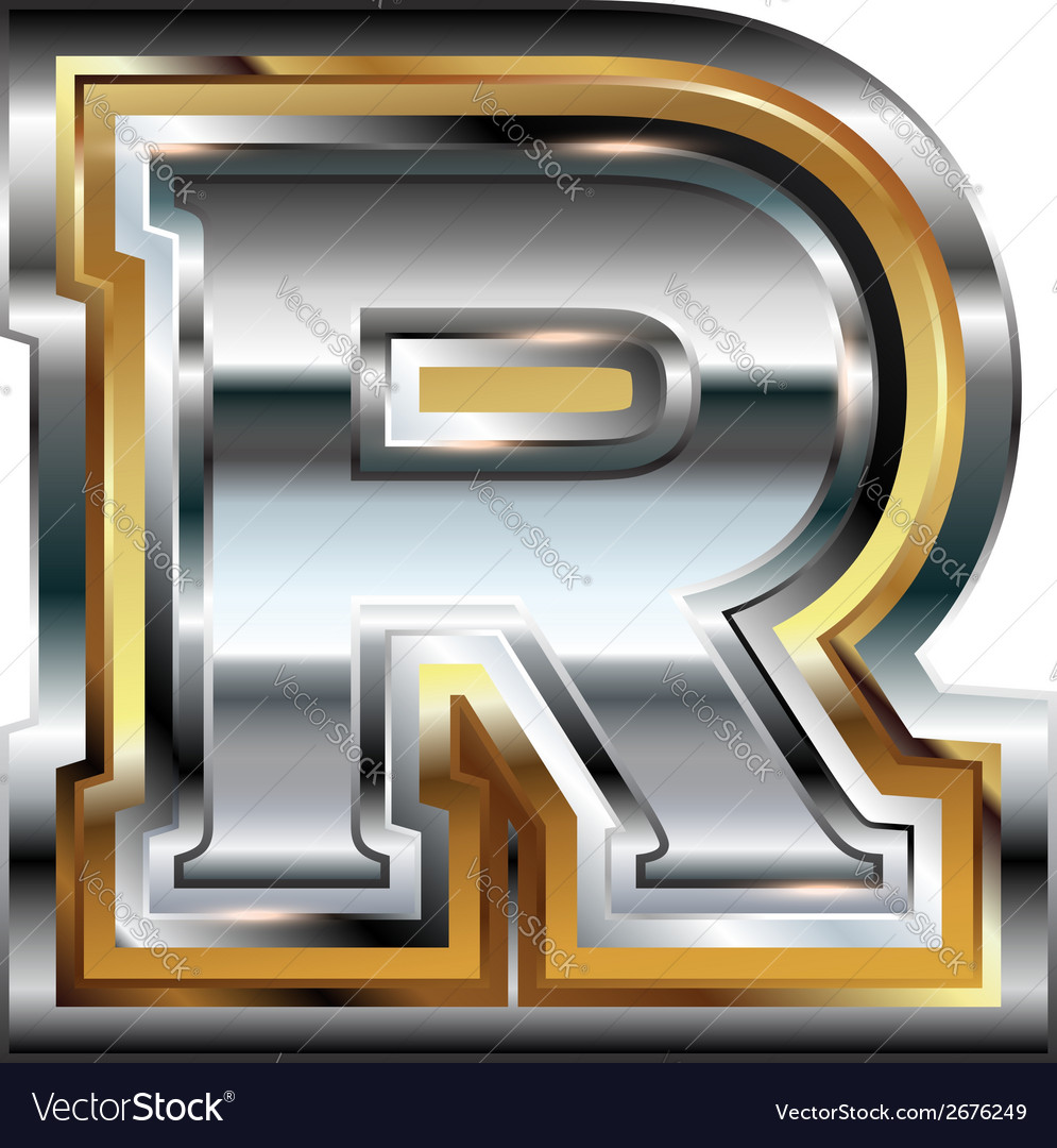 Fancy font letter r vector | Price: 1 Credit (USD $1)
