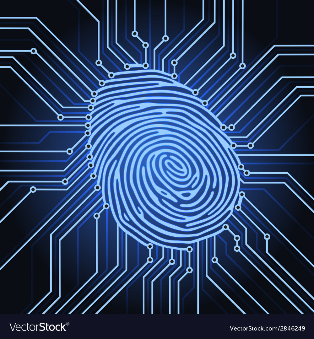 Fingerprint electronics vector | Price: 1 Credit (USD $1)