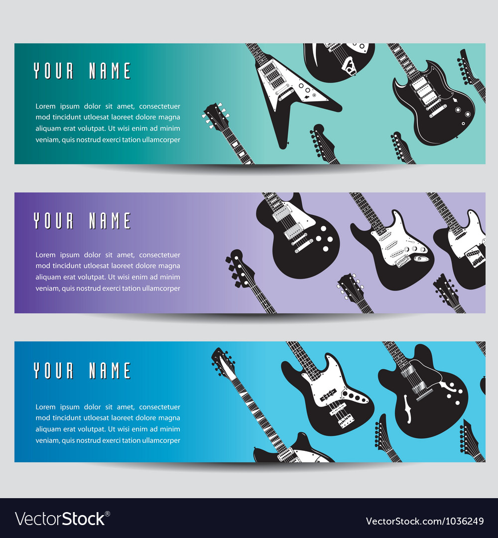 Guitar banners vector | Price: 1 Credit (USD $1)