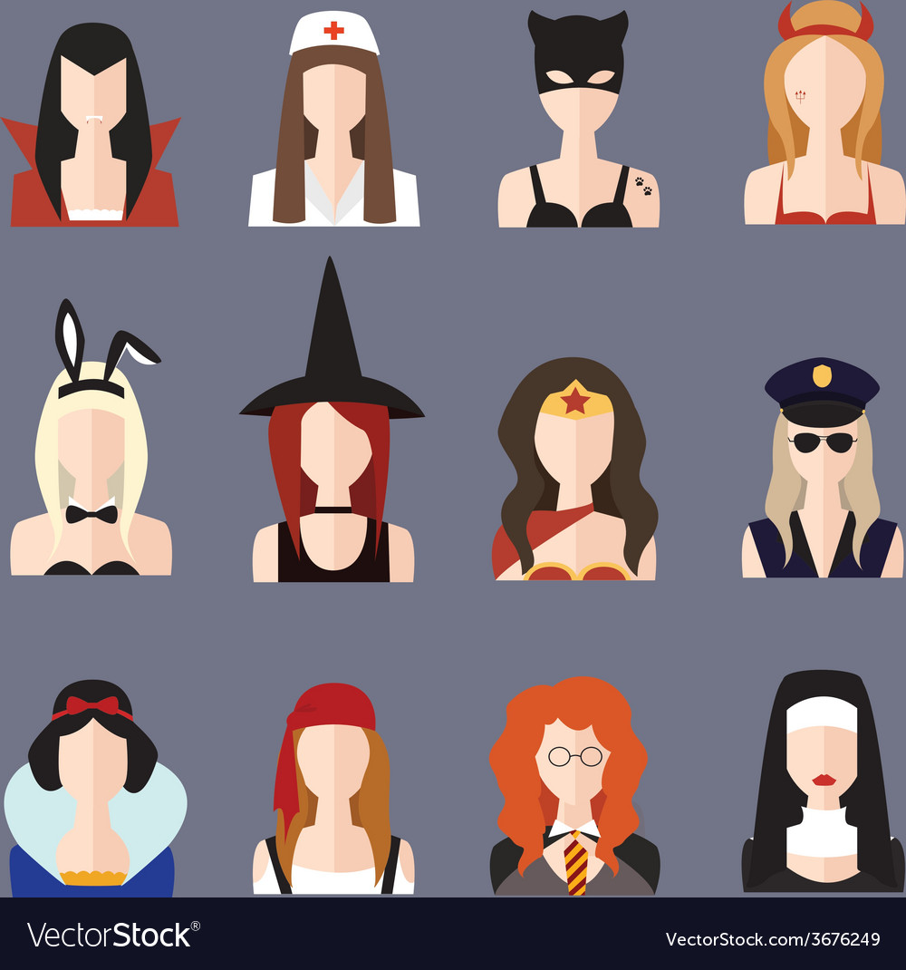 Halloween girl set vector | Price: 1 Credit (USD $1)