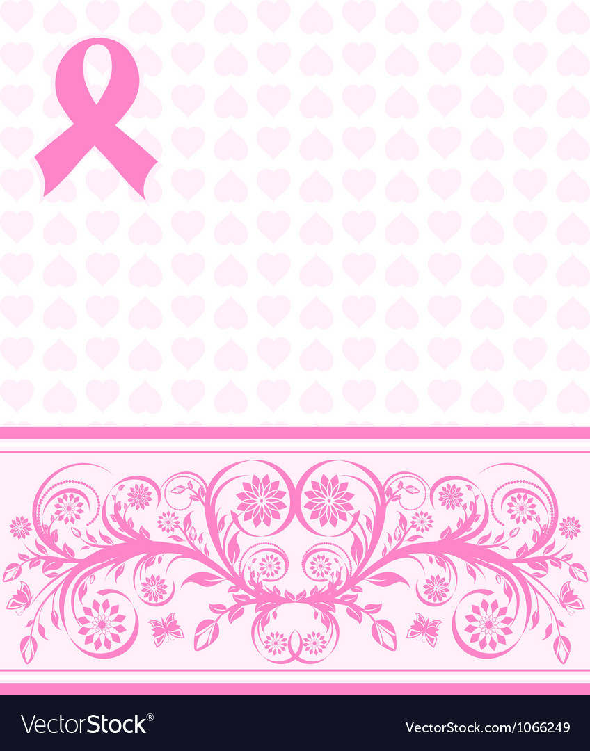 Pink ribbon background vector | Price: 1 Credit (USD $1)