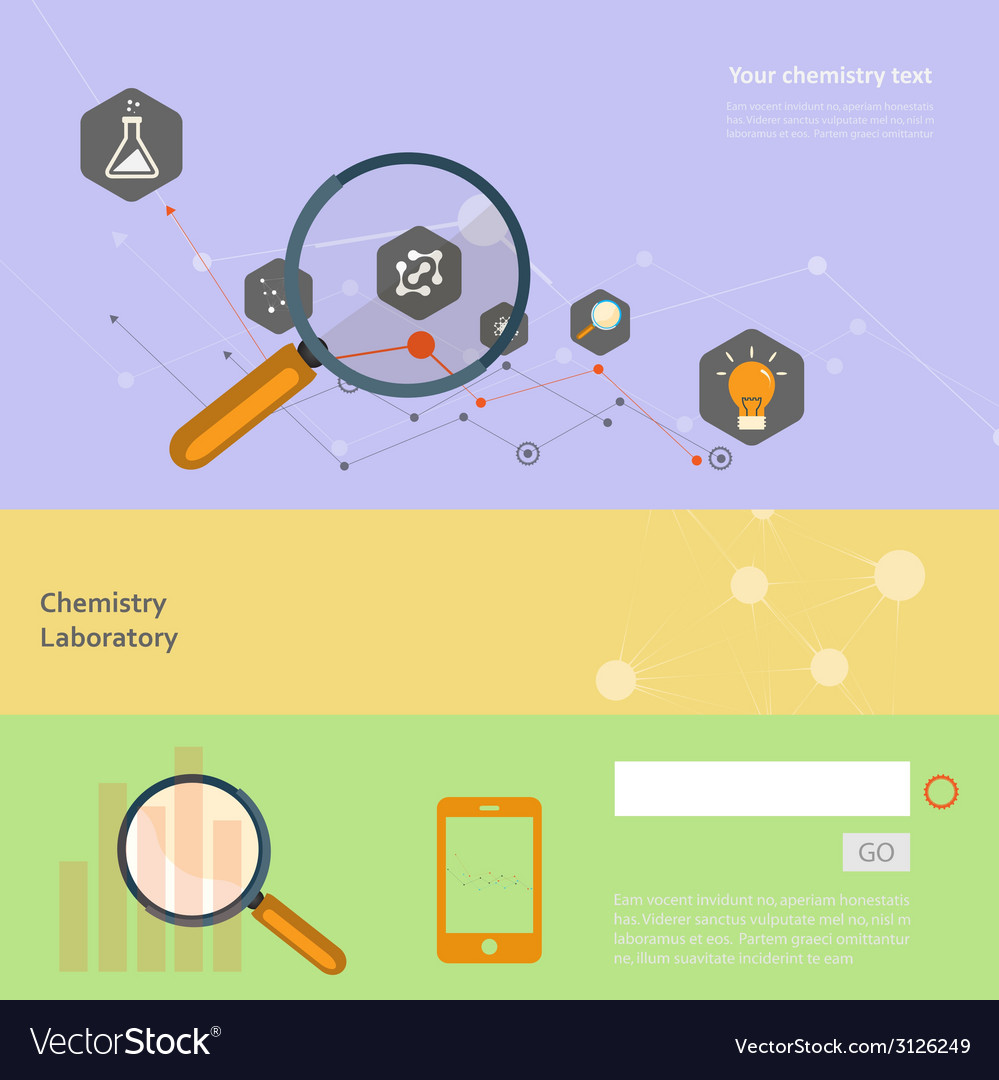 Set of flat design concepts for web and printing vector   Price: 1 Credit (USD $1)