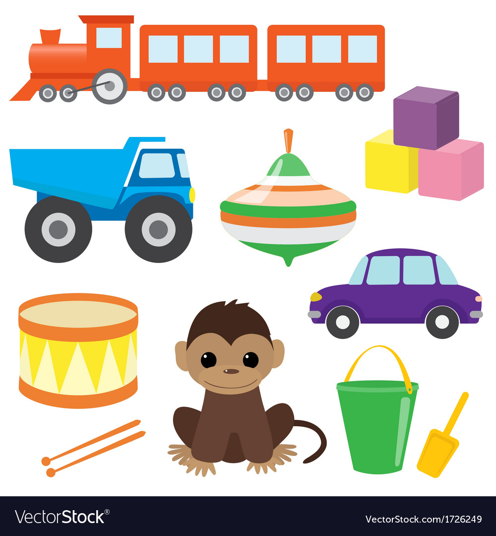 Set of toys 2 vector | Price: 1 Credit (USD $1)
