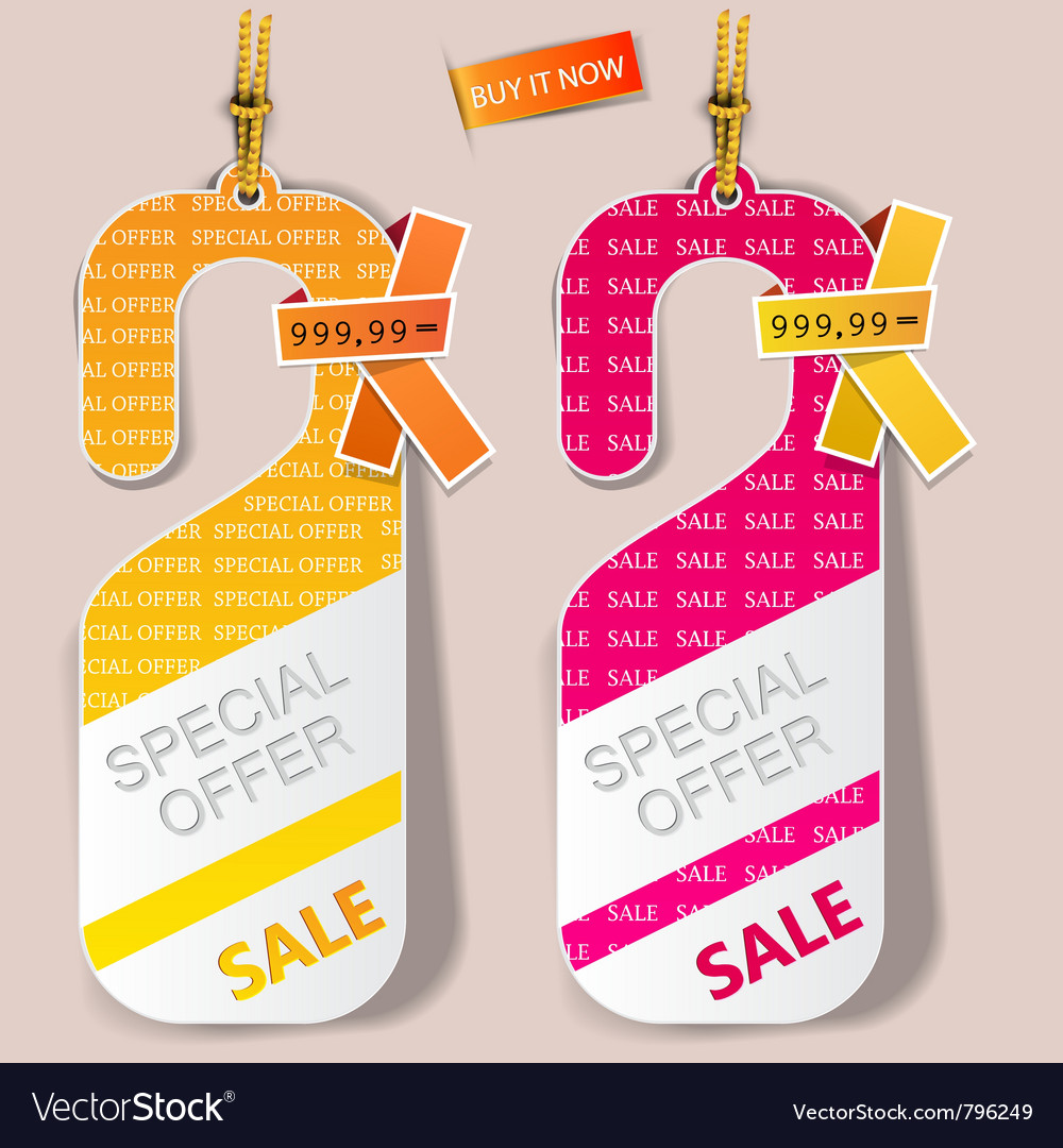 Special offer labels vector   Price: 1 Credit (USD $1)
