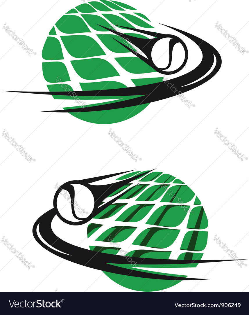 Tennis sports elements vector | Price: 1 Credit (USD $1)