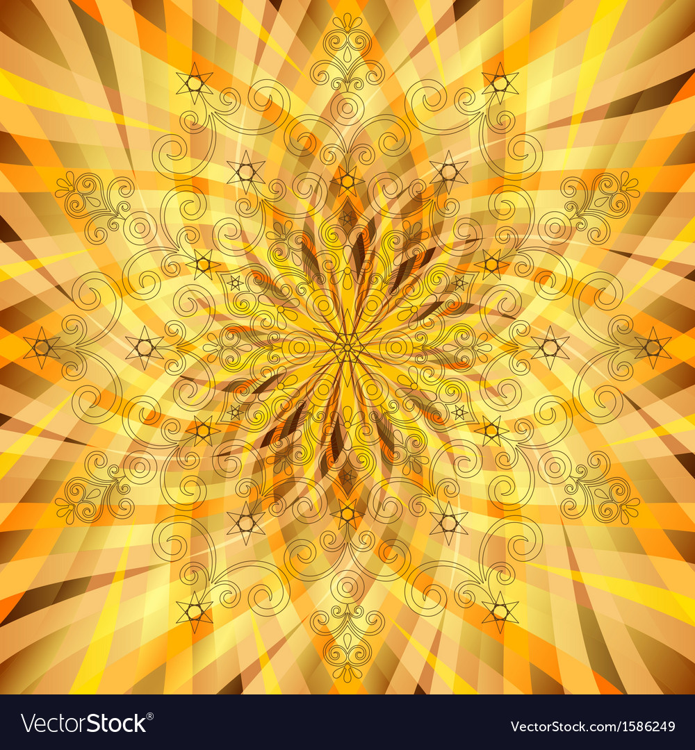 Vintage orange-gold pattern vector | Price: 1 Credit (USD $1)