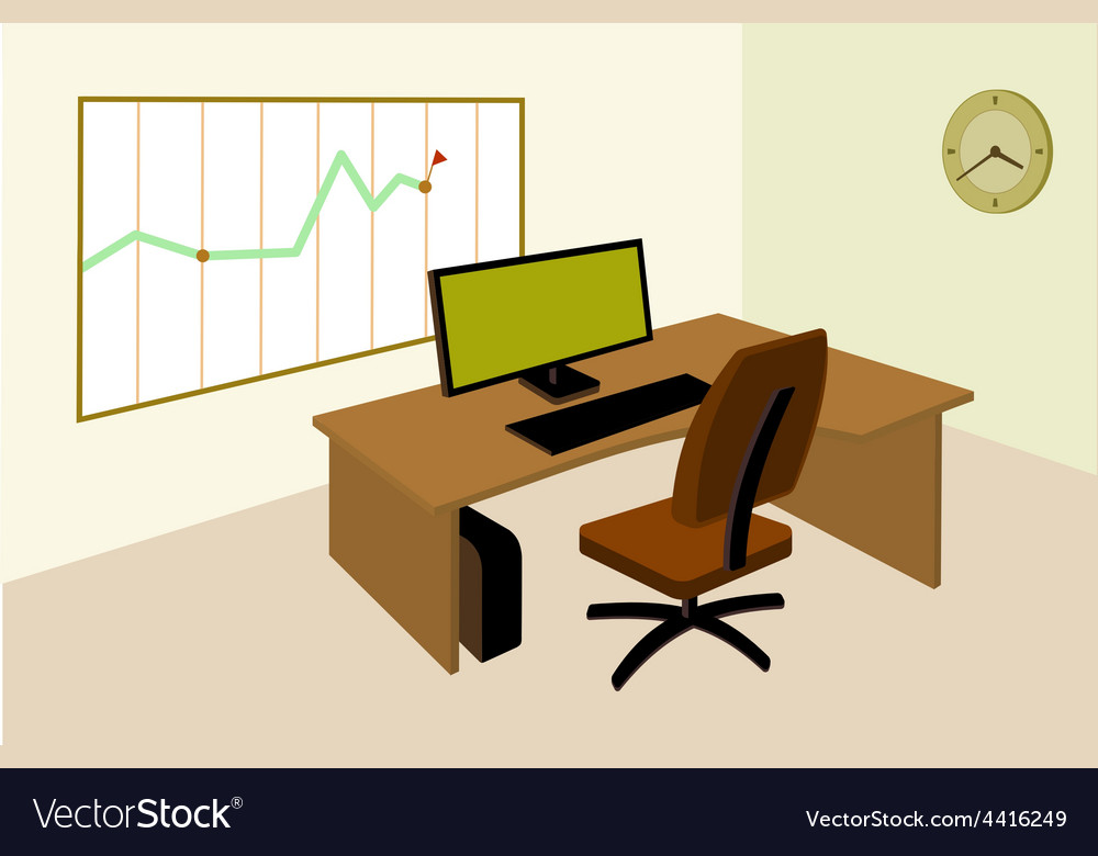 Working place in office with an infographic on the vector | Price: 1 Credit (USD $1)