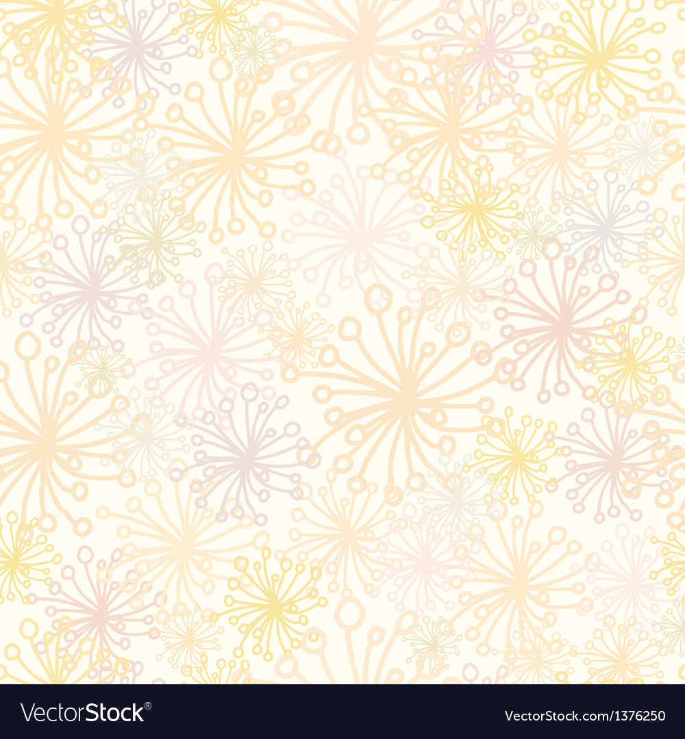 Abstract fluffy plants seamless pattern background vector | Price: 1 Credit (USD $1)