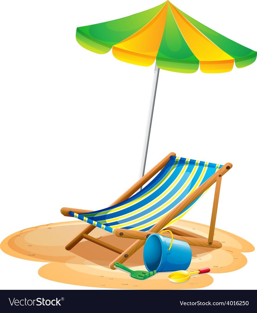 Beach chair vector | Price: 1 Credit (USD $1)