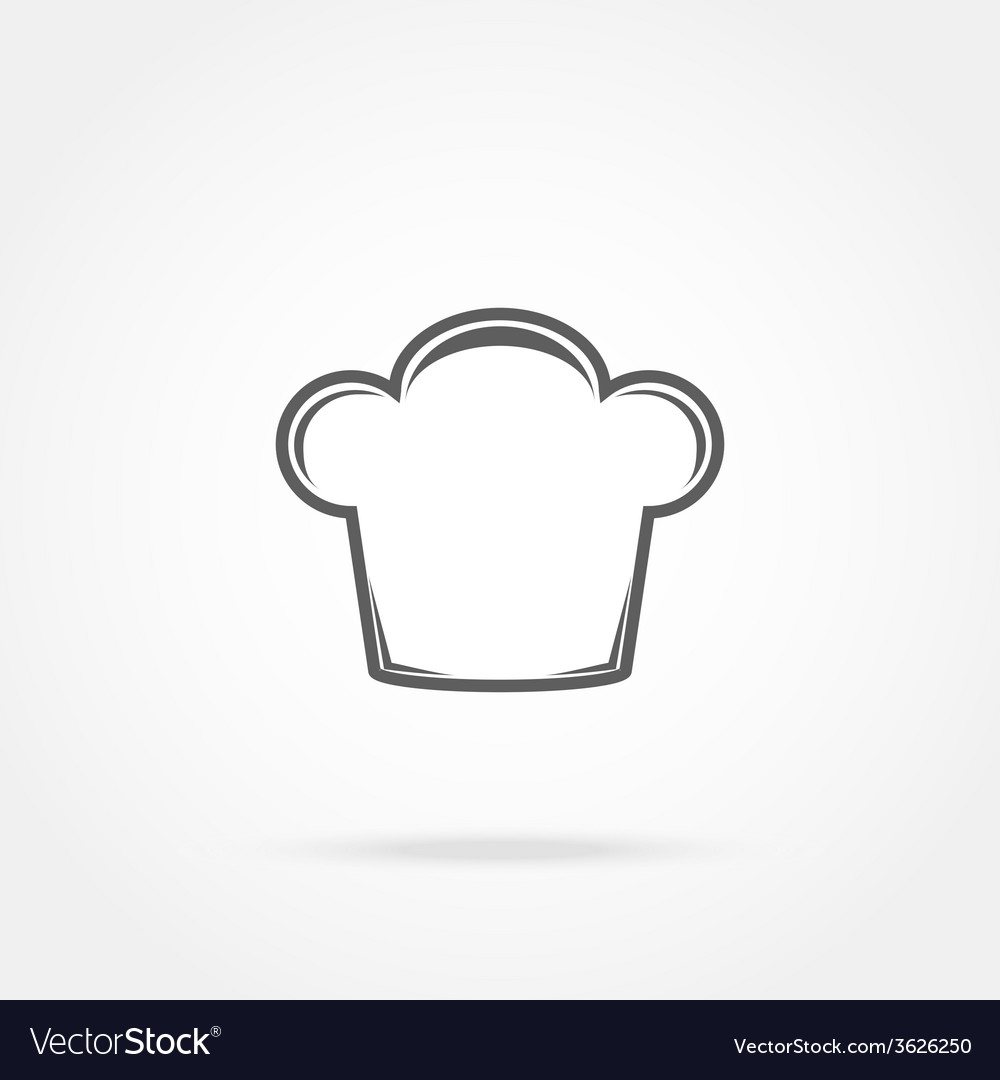 Cap chef icon vector | Price: 1 Credit (USD $1)