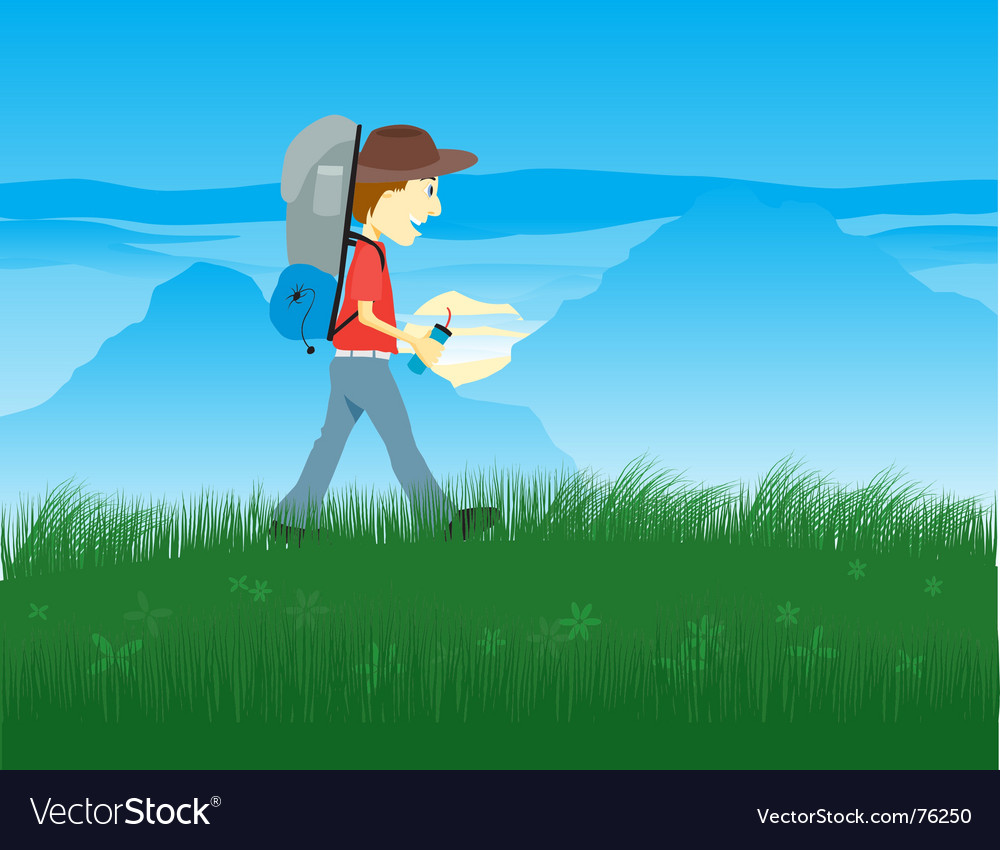 Hiker vector | Price: 1 Credit (USD $1)
