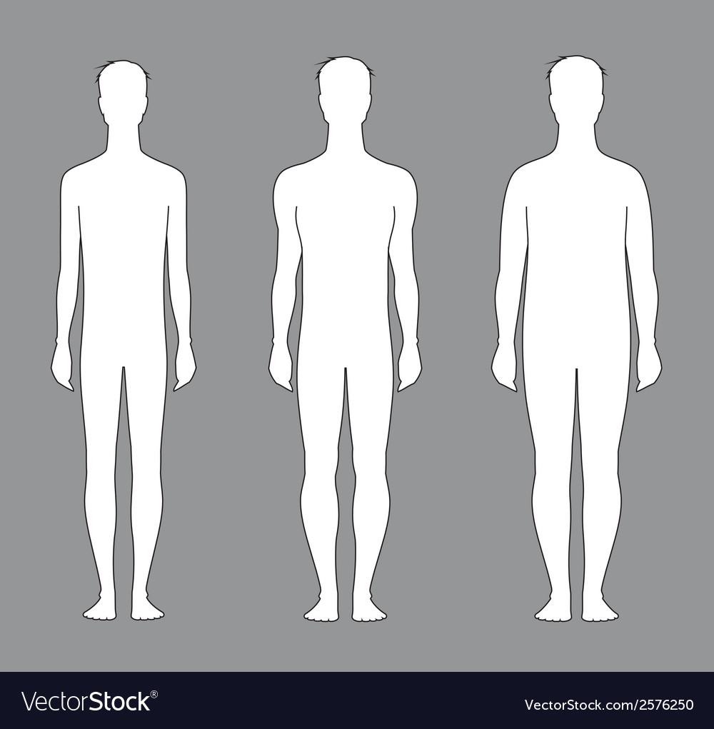 Male silhouette vector | Price: 1 Credit (USD $1)