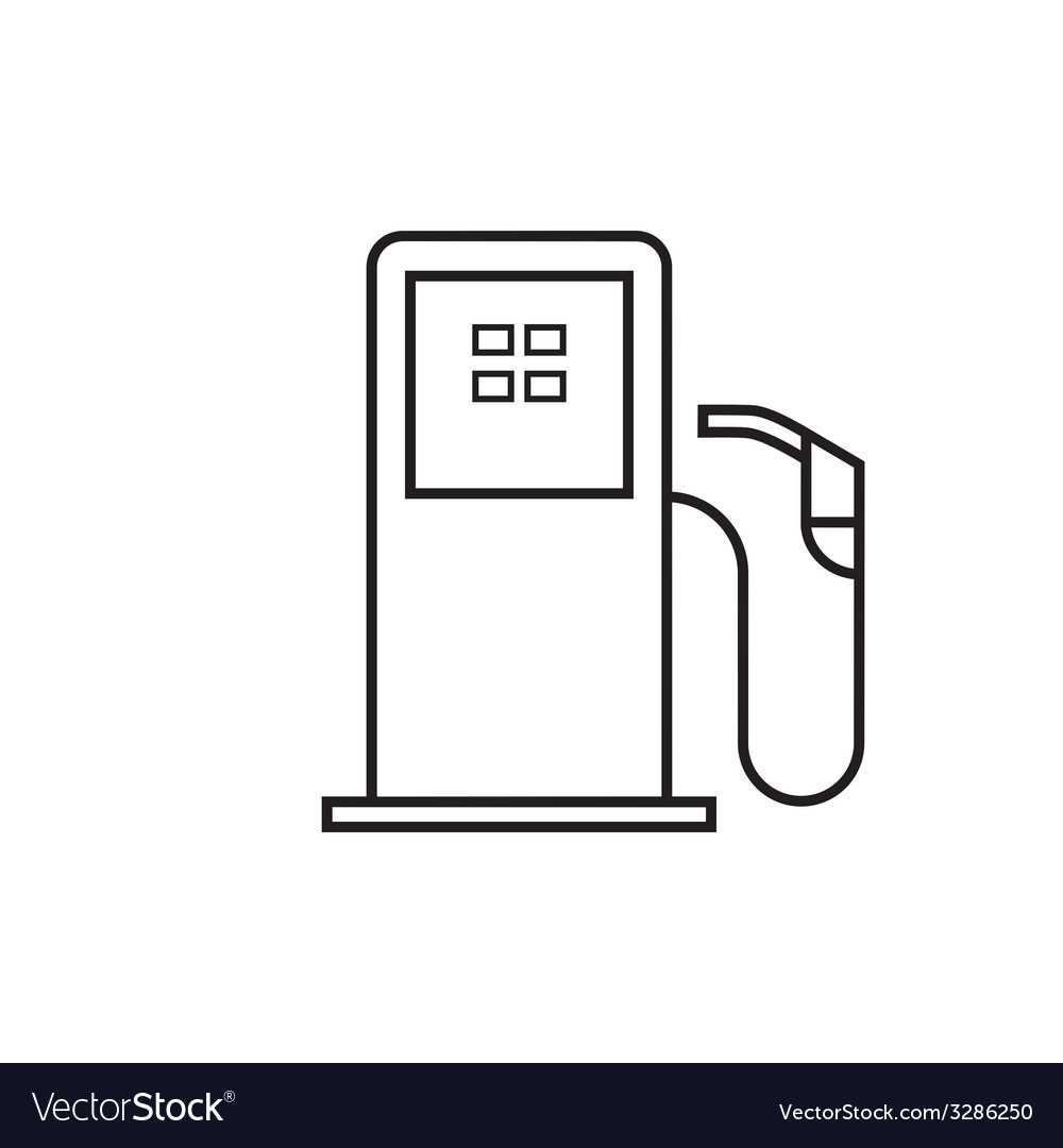 Petrol pump vector | Price: 1 Credit (USD $1)
