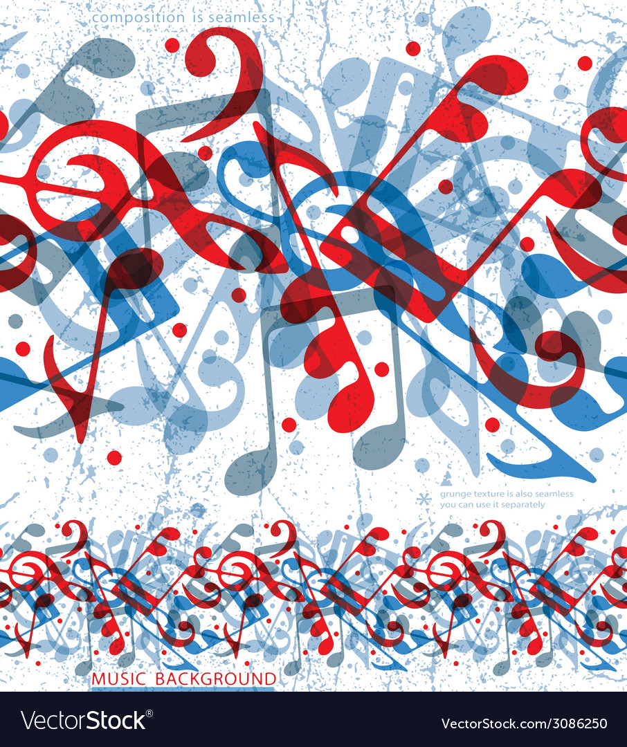 Seamless musical notes pattern vector | Price: 1 Credit (USD $1)
