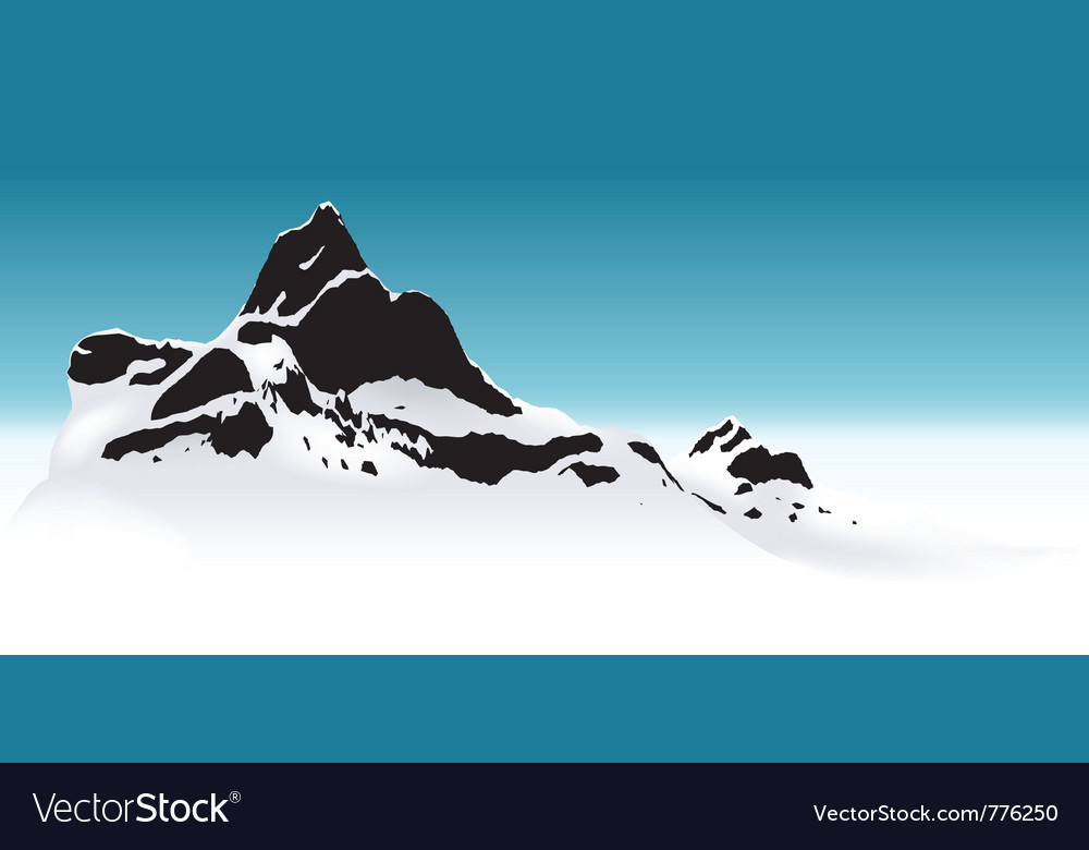 Snowy mountain vector | Price: 1 Credit (USD $1)