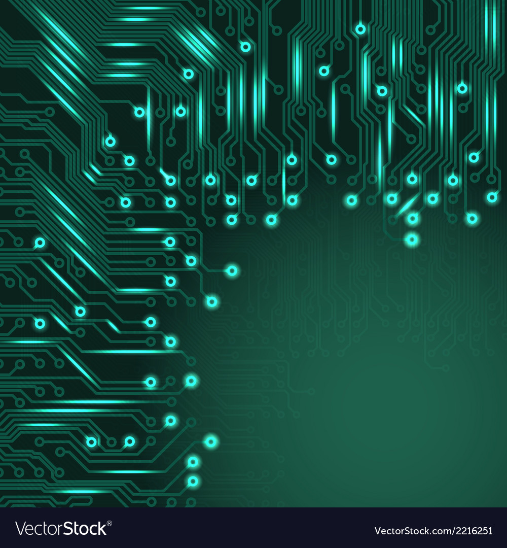 Abstract electronics blue background vector | Price: 1 Credit (USD $1)