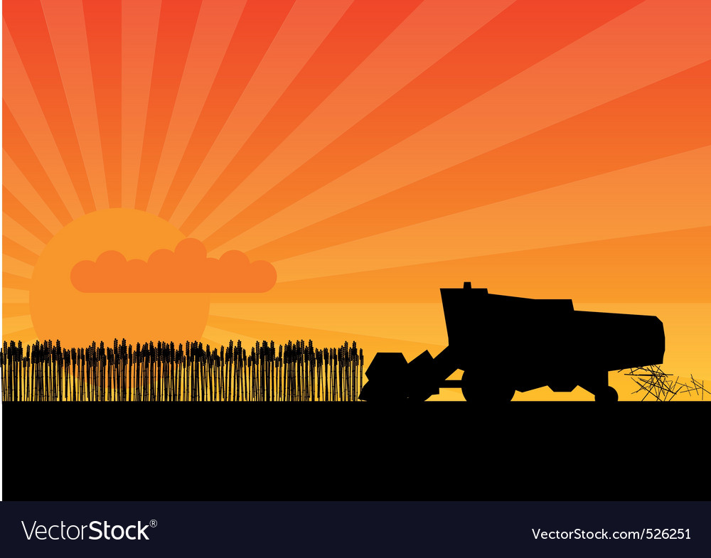 Black combine vector | Price: 1 Credit (USD $1)